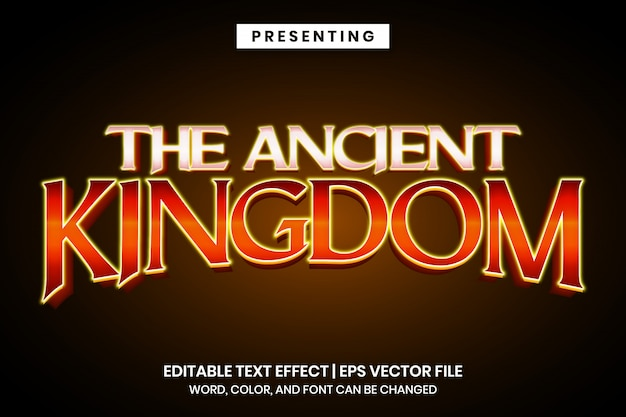 Edytowalny efekt tekstowy - starodawny styl logo gry w stylu vintage