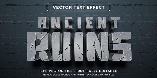 Edytowalny efekt tekstowy - starożytny styl cywilizacji