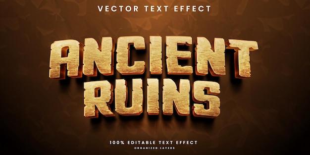 Edytowalny efekt tekstowy starożytnych ruin