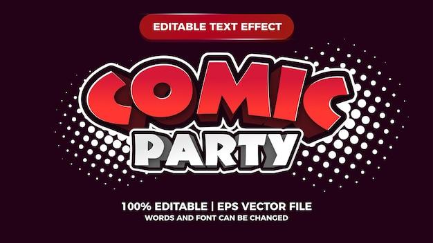Edytowalny efekt tekstowy strony komiksowej