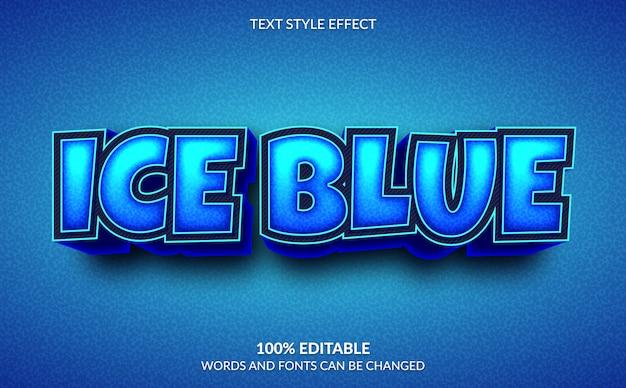 Edytowalny efekt tekstowy, styl 3d ice blue text