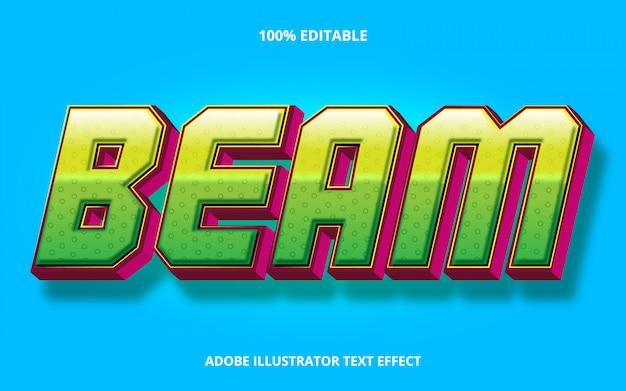 Edytowalny efekt tekstowy - styl belki gradientowej