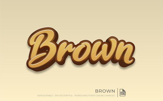 Edytowalny efekt tekstowy, styl brązowy
