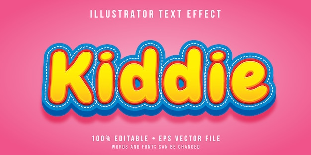 Edytowalny efekt tekstowy - styl dziecięcy