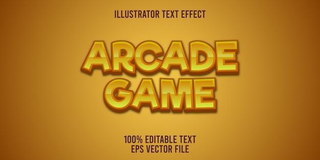 Edytowalny efekt tekstowy styl gry zręcznościowej