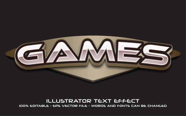 Edytowalny efekt tekstowy, styl gry