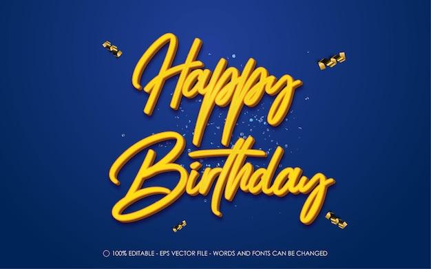 Edytowalny efekt tekstowy, styl happy birthday