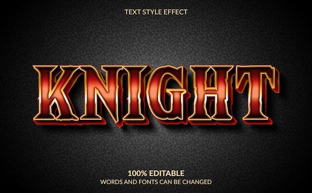 Edytowalny efekt tekstowy, styl knight esport