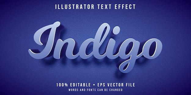 Edytowalny efekt tekstowy - styl koloru indygo