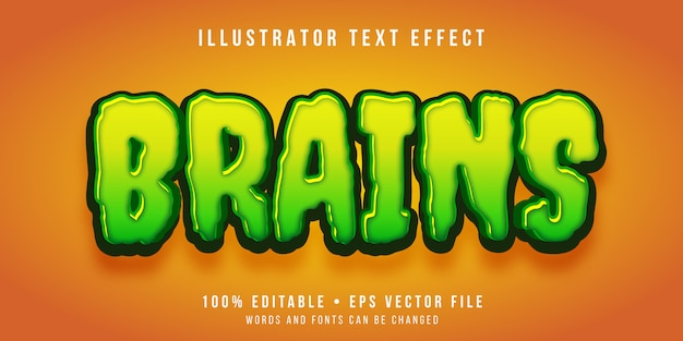 Edytowalny efekt tekstowy - styl kreskówkowy zombie