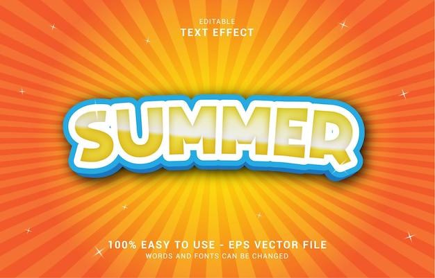 Edytowalny efekt tekstowy, styl letni może być użyty do stworzenia tytułu