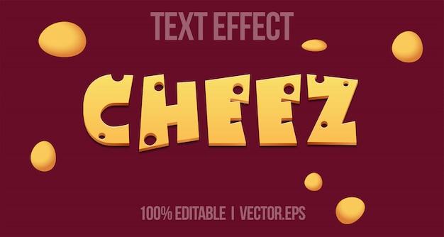 Edytowalny efekt tekstowy - styl logo gry cheez
