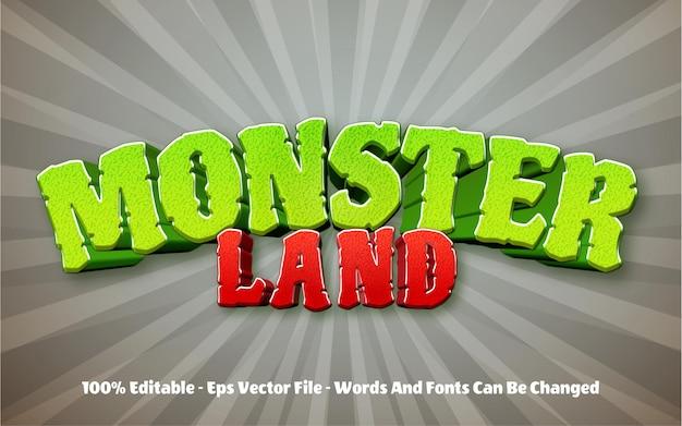 Edytowalny efekt tekstowy, styl monster land