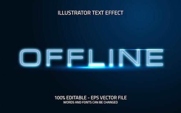 Edytowalny efekt tekstowy, styl offline
