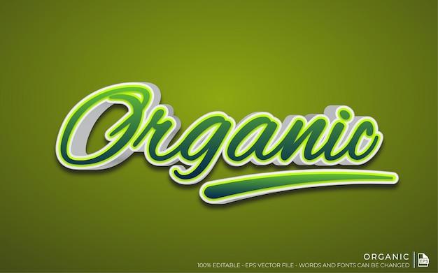 Edytowalny efekt tekstowy, styl organiczny