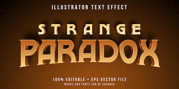 Edytowalny efekt tekstowy - styl paradoksu