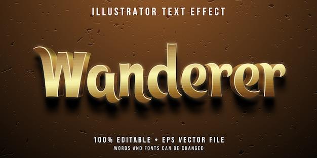 Edytowalny efekt tekstowy - styl pustynnego wędrowca