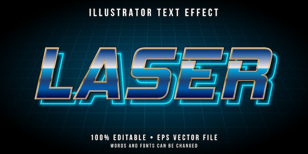Edytowalny efekt tekstowy - styl retro neonowego światła