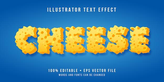 Edytowalny efekt tekstowy - styl sera