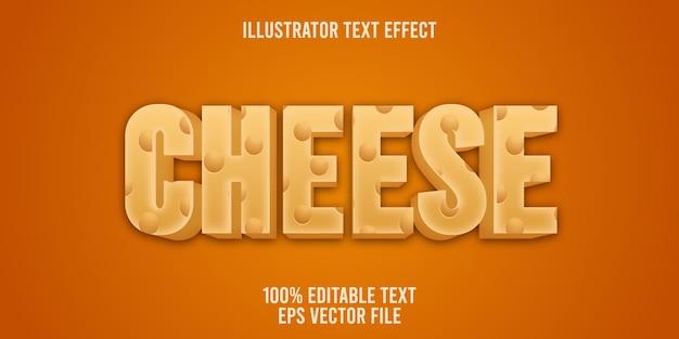 Edytowalny efekt tekstowy styl sera
