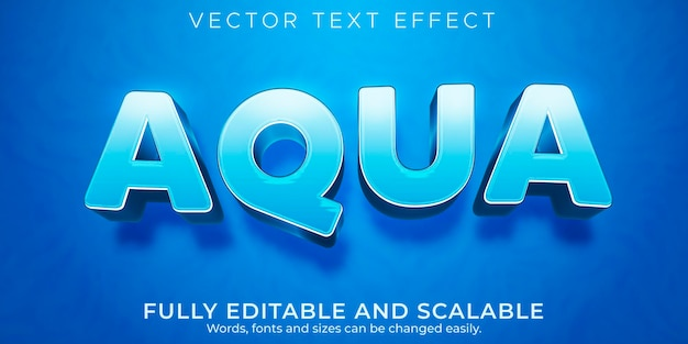 Edytowalny efekt tekstowy, styl tekstu aqua water