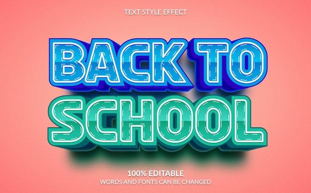 Edytowalny efekt tekstowy, styl tekstu back to school
