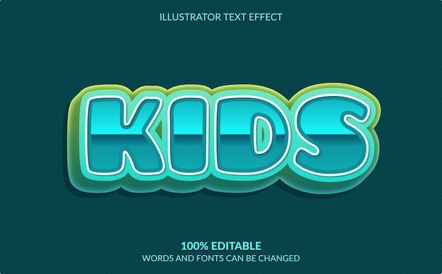 Edytowalny efekt tekstowy, styl tekstu dla dzieci