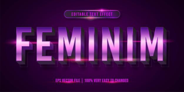Edytowalny efekt tekstowy - styl tekstu feminim