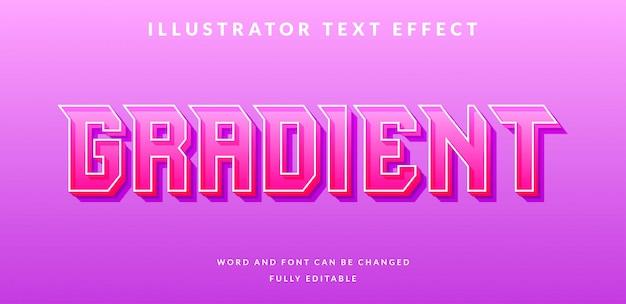 Edytowalny efekt tekstowy. styl tekstu gradientowego