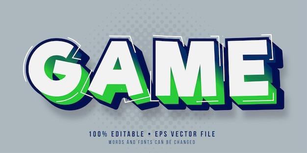 Edytowalny efekt tekstowy styl tekstu gry