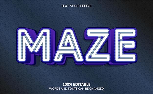 Edytowalny efekt tekstowy styl tekstu labiryntu