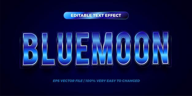 Edytowalny efekt tekstowy - styl tekstu niebieskiego księżyca