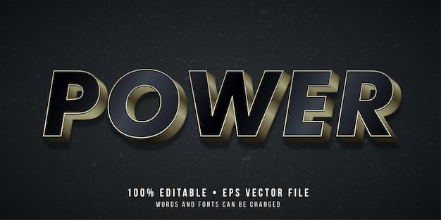 Edytowalny efekt tekstowy styl tekstu power