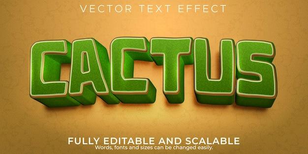 Edytowalny efekt tekstowy, styl tekstu pustyni kaktusów