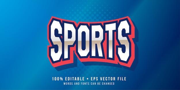 Edytowalny efekt tekstowy styl tekstu sportowego