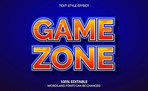 Edytowalny efekt tekstowy, styl tekstu strefy gry 3d