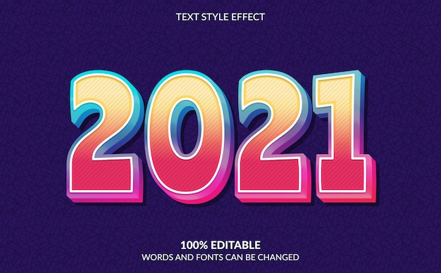 Edytowalny efekt tekstowy, styl tekstu szczęśliwego nowego roku