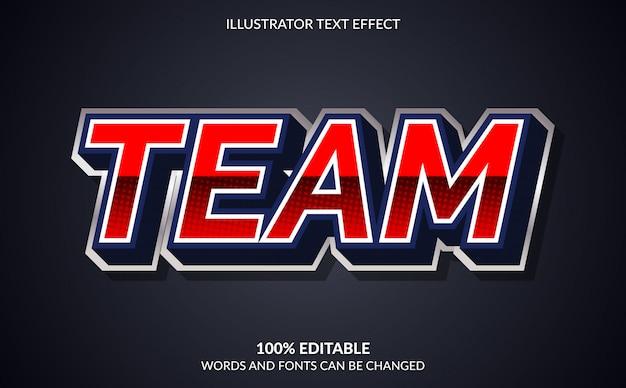 Edytowalny efekt tekstowy, styl tekstu team esport