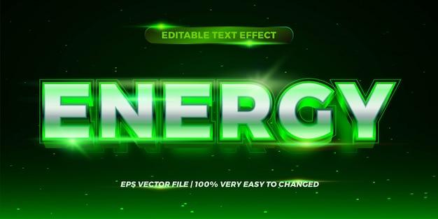 Edytowalny efekt tekstowy - styl tekstu w kolorze zielonej energii