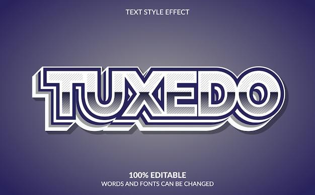 Edytowalny efekt tekstowy, styl tekstu w smokingu