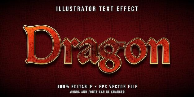 Edytowalny efekt tekstowy - styl tekstury smoka