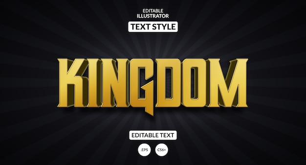 Edytowalny efekt tekstowy - styl złotego królestwa