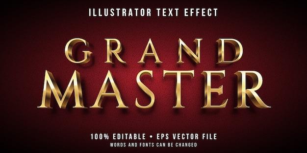 Edytowalny efekt tekstowy - styl złotego mistrza
