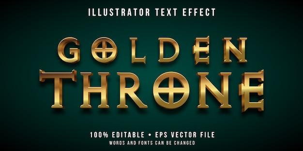 Edytowalny efekt tekstowy - styl złotego tronu