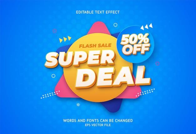 Edytowalny efekt tekstowy super deal.