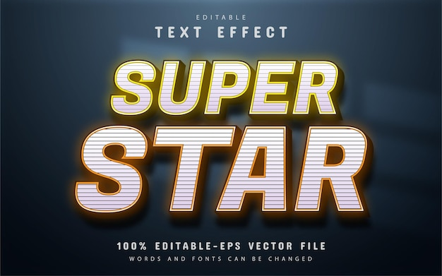 Edytowalny efekt tekstowy super star