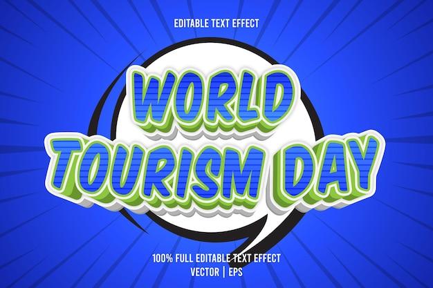 Edytowalny efekt tekstowy światowego dnia turystyki