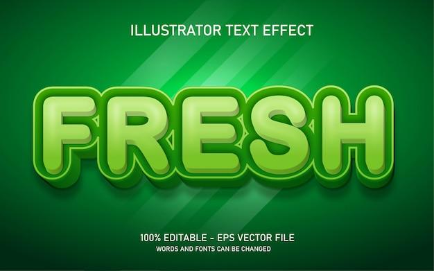 Edytowalny efekt tekstowy, świeże ilustracje w stylu