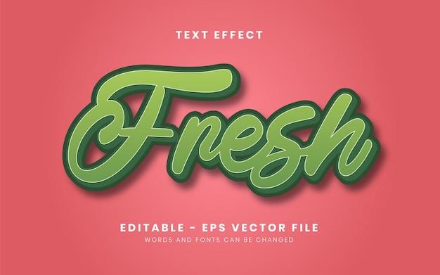 Edytowalny efekt tekstowy świeżej natury