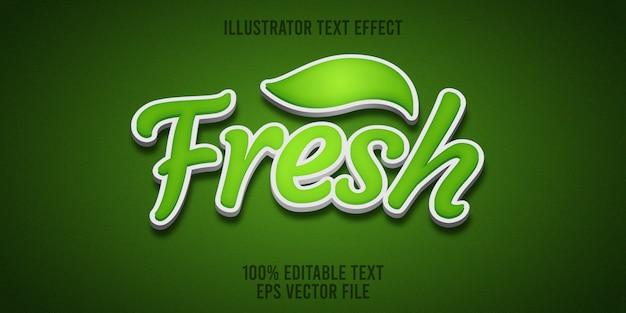 Edytowalny efekt tekstowy świeży